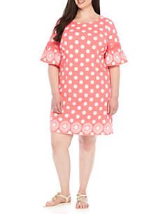 Plus Size Bell Sleeve Knit Dress