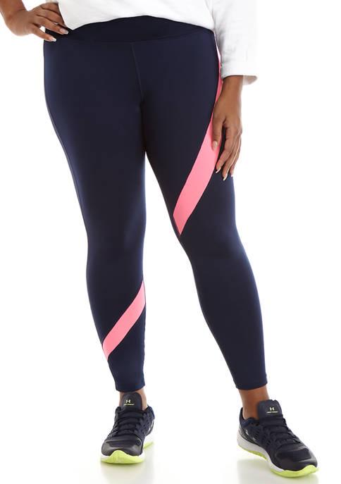 Crown & Ivy™ Plus Size Contrast Stripe Leggings