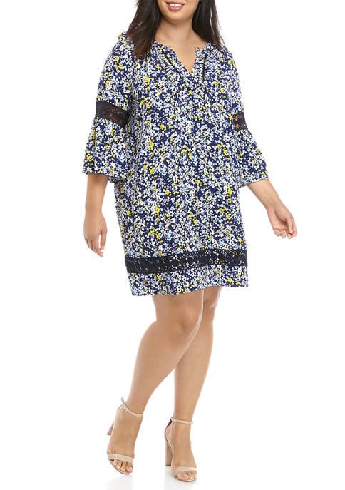 Crown & Ivy™ Plus Size 3/4 Floral Print