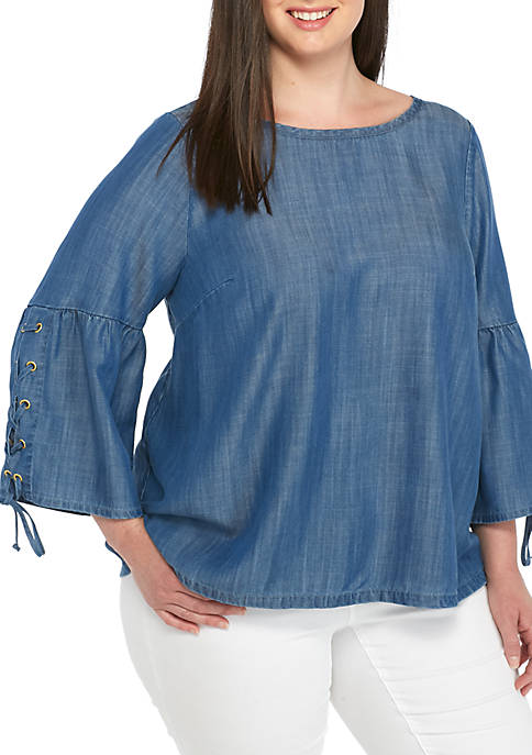 Crown & Ivy™ Plus Size Long Sleeve Rope