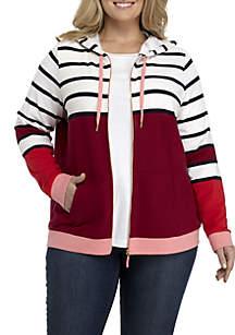 Plus Size Long Sleeve Printed Sweatshirt
