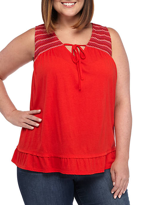 Crown & Ivy™ Plus Size Sleeveless V Neck