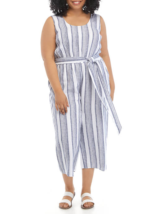 Crown & Ivy™ Plus Size Linen Jumpsuit