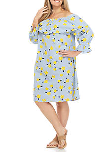 Plus Size Mommy & Me Printed Scallop Dress