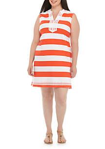 Plus Size Sleeveless Kurta Dress