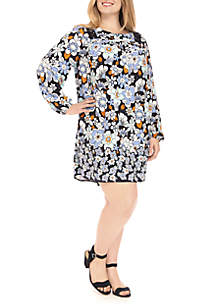 Plus Size Long Sleeve Peasant Dress