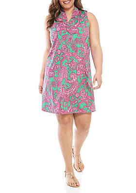 d50cba217918 Crown   Ivy™ Plus Size Sleeveless Paisley A Line Dress ...