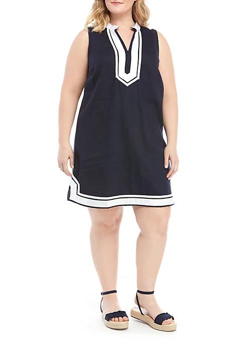 Crown & Ivy™ Plus Size Sleeveless Kurta Dress