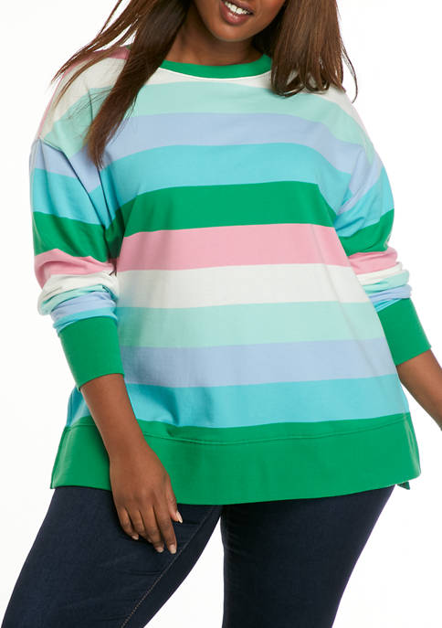 Crown & Ivy™ Plus Size Long Sleeve Crew