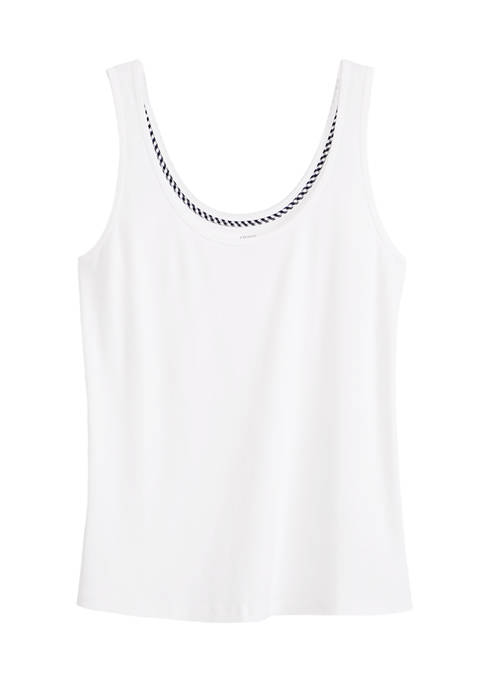 Crown & Ivy™ Plus Size Sleeveless Scoop Neck