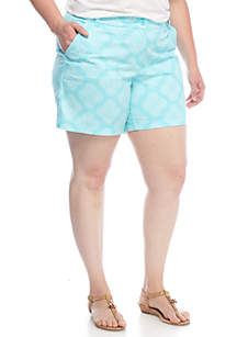 Plus Size Core Medallion Shorts