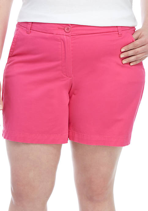 Crown & Ivy™ Plus Size Caroline Classic Shorts