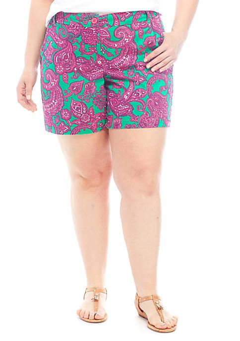 Crown & Ivy™ Plus Size Carolina Classic Shorts
