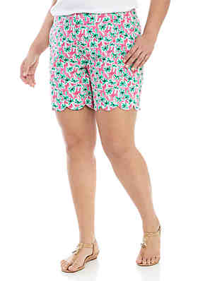 0c58b0c507b ... Solid Casual Crop Pant · Crown   Ivy™ Plus Size Printed Scallop Shorts  ...