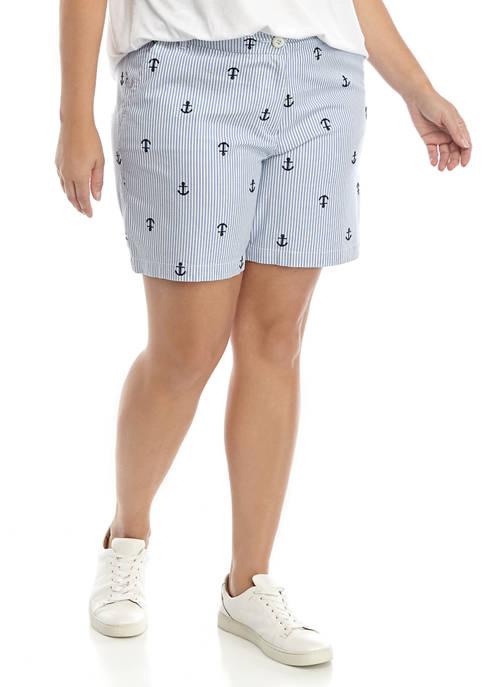 Crown & Ivy™ Plus Size Mid Rise Shorts