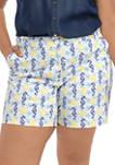 Plus Size Printed Shorts