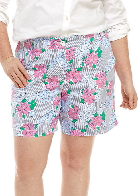 Crown & Ivy™ Plus Size 7 Inch Printed