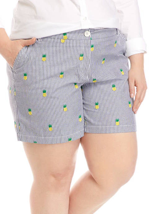 Crown & Ivy™ Plus Size 5 Inch Printed