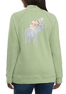 Long Sleeve Mock Neck Sweatshirt
