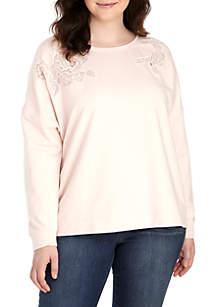 Plus Size Long Sleeve Sweatshirt