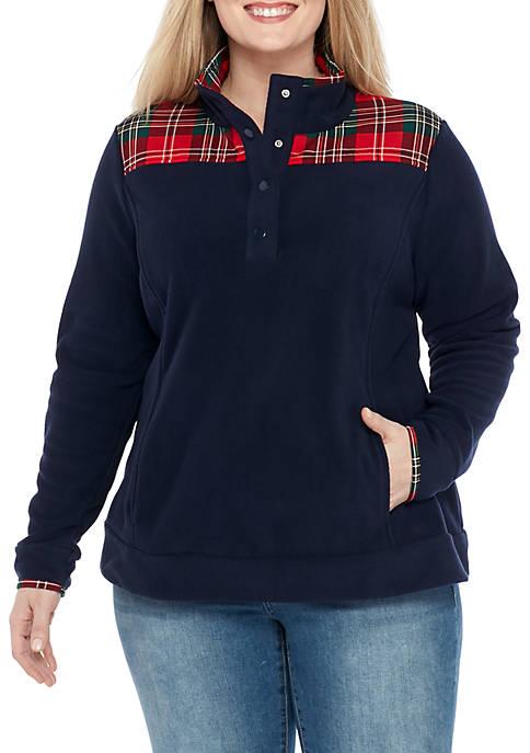 Crown & Ivy™ Plus Size Long Sleeve Fleece