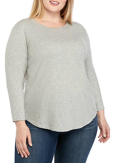 Crown & Ivy™ Plus Size Heather T Shirt