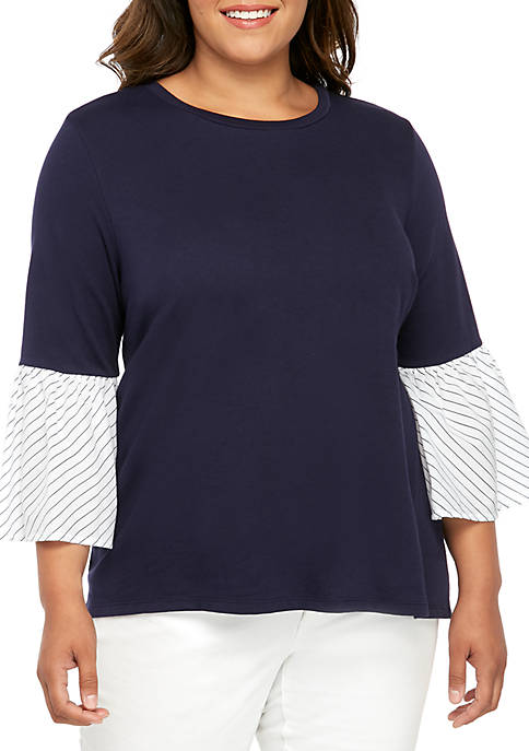 Crown & Ivy™ Plus Size 3/4 Flare Sleeve