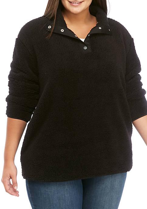 Crown & Ivy™ Plus Size Long Sleeve Mock
