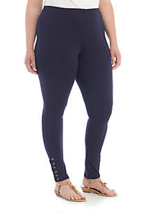 Crown & Ivy™ Plus Size Tie Side Leggings