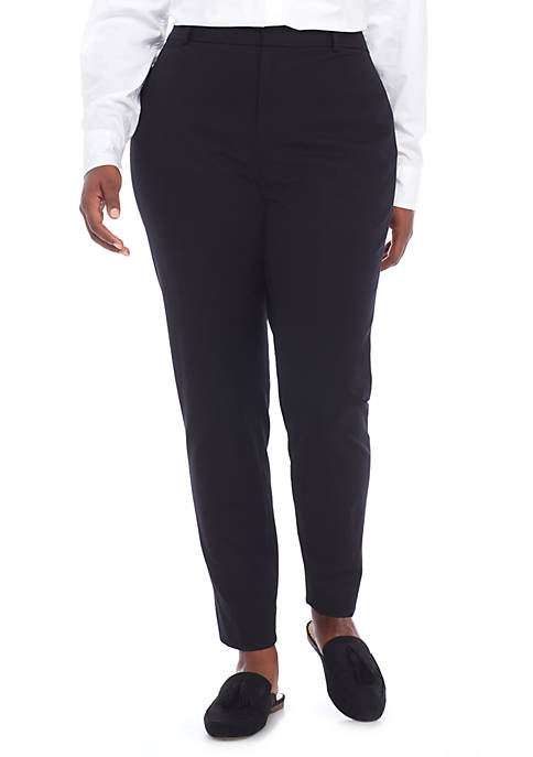Plus Size Cary Fly Front Bi-Stretch Pants