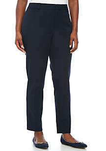 24749303808 ... Crown   Ivy™ Plus Size Cary Fly Front Bi-Stretch Pants