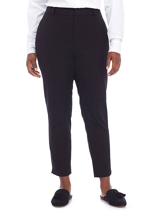 Plus Size Cary Bi Stretch Fly Front Pants