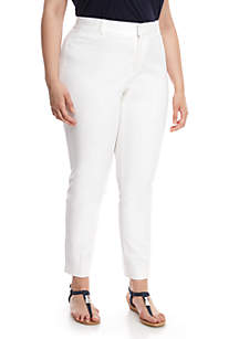 d734cf4e415 Crown   Ivy™ Plus Size Cary Bi Stretch Fly Front Pants