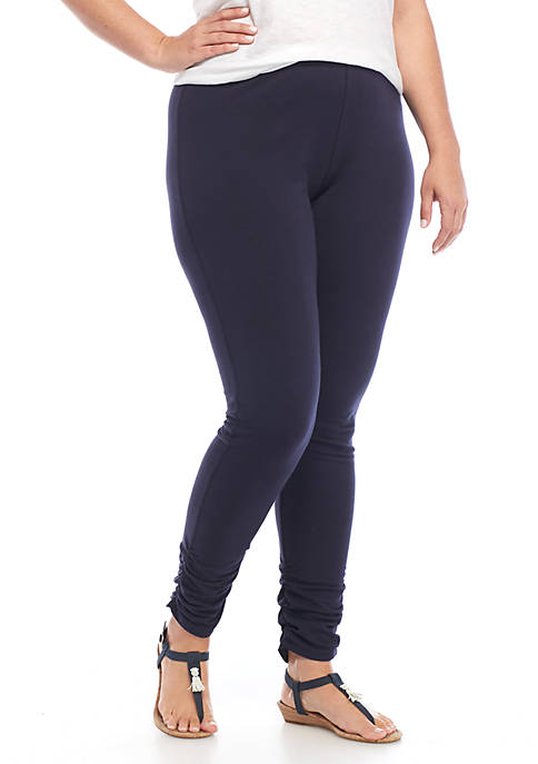 Crown & Ivy™ Ruched Solid Leggings