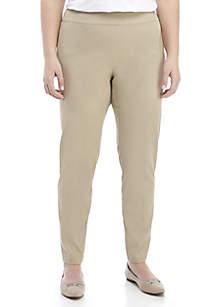 Crown & Ivy™ Plus Size Ashley Bi Stretch Pull On Pants