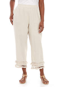 Crown & Ivy™ Plus Size Tassel Tier Pants