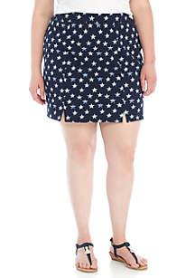 Plus Size Slit Front Knit Shorts