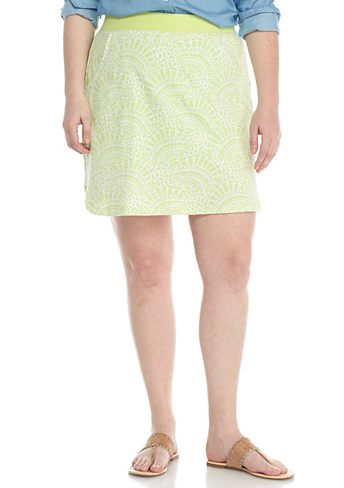 Crown & Ivy™ Curve Hem Knit Skort