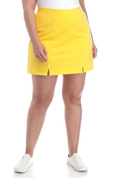 Crown & Ivy™ Plus Size Pull On Skort