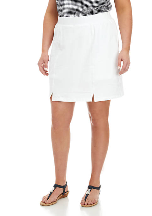 Crown & Ivy™ Plus Size Pull On Skort