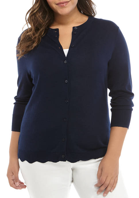 Plus Size Long Sleeve Cardigan