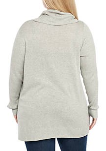 501924c1e9f2 Crown   Ivy™ Plus Size Long Sleeve Cowl Neck Sweater