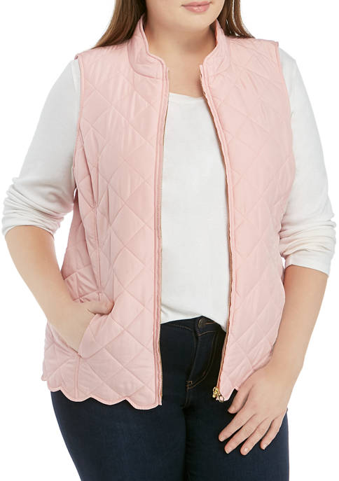 Crown & Ivy™ Plus Size Small Long Quilted