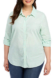 ceee09a6 ... Crown & Ivy™ Plus Size Long Sleeve Button Up Shirt