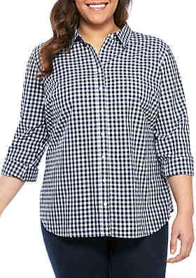 2c79603a Crown & Ivy™ Plus Size Long Sleeve Button Up Shirt ...