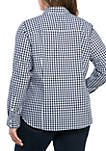 Plus Size Long Sleeve Button Up Shirt