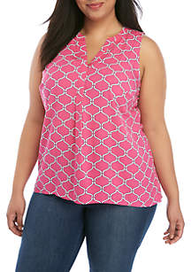 0cf328a1db954 ... Crown & Ivy™ Plus Size Sleeveless Peasant Top