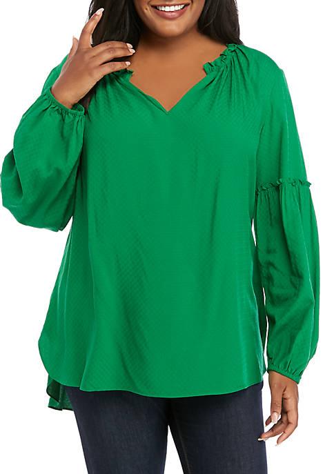 Crown & Ivy™ Plus size Long Sleeve Peasant