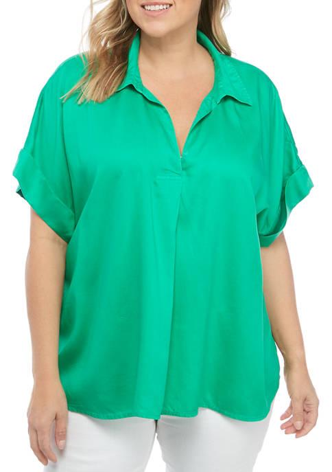 Crown & Ivy™ Plus Size Short Sleeve Dolman