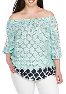 Plus Size Mommy & Me Ruffle Sleeve Top